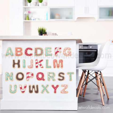 Alphabet Wall Decal - Donut Wall Decals