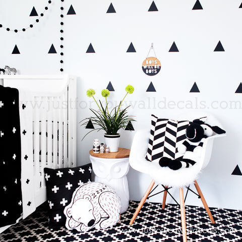 2.5 Inch Triangle Pattern Wall Decals