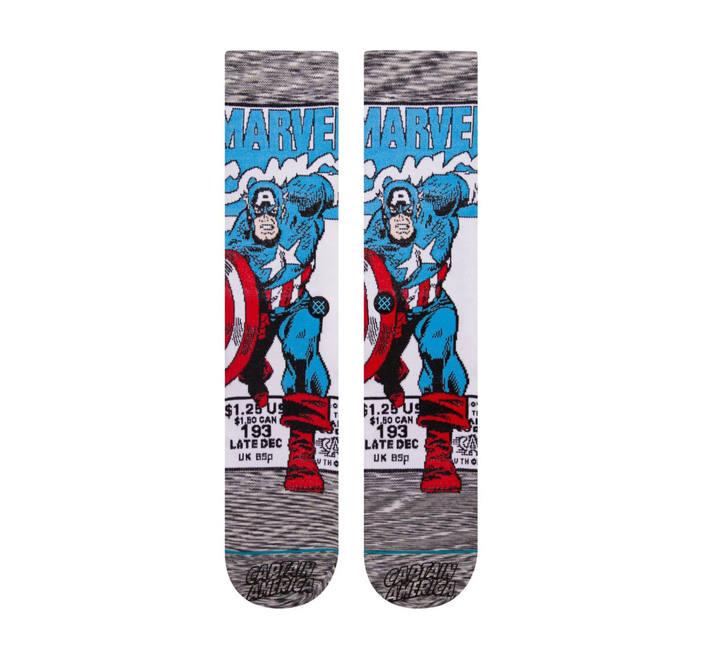 Stance Everyday Crew Men's Socks in Captain America Comic