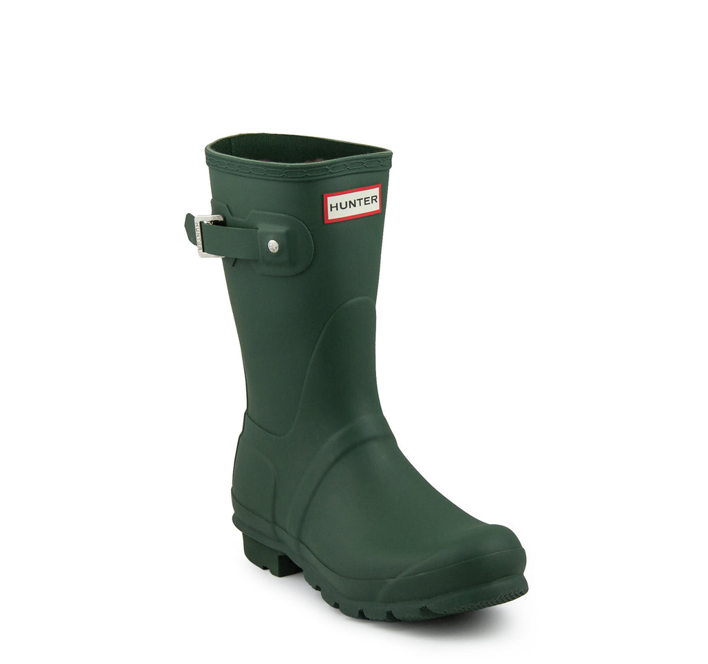 Hunter Original Short Women's Rain Boots in Green - Hunter - On The EDGE