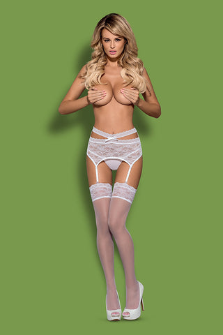 Obsessive Swanita Garter Belt and Thong