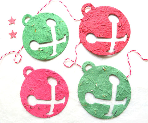 Seed Paper Bells - supplies for DIY Plantable paper Christmas cards and tags