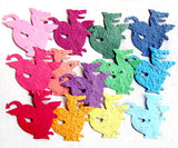 Recycled Ideas Favors assorted colors plantable seed paper dragons