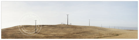 Framed Photographic Print - Power Poles, White Sow Valley, Central Otago