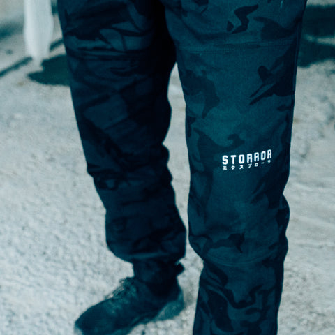 Dark Camo COMMITMENT Pants (Black)