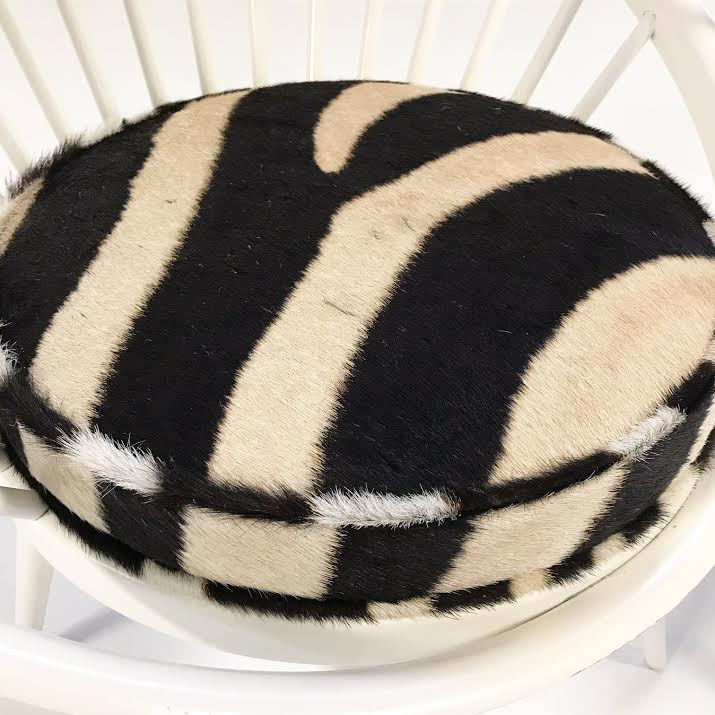 Circle Chairs in Zebra Hide, pair - FORSYTH