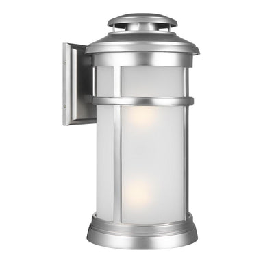 Newport Collection 2 - LIGHT  EXTERIOR WALL LANTERN Painted Brushed Steel