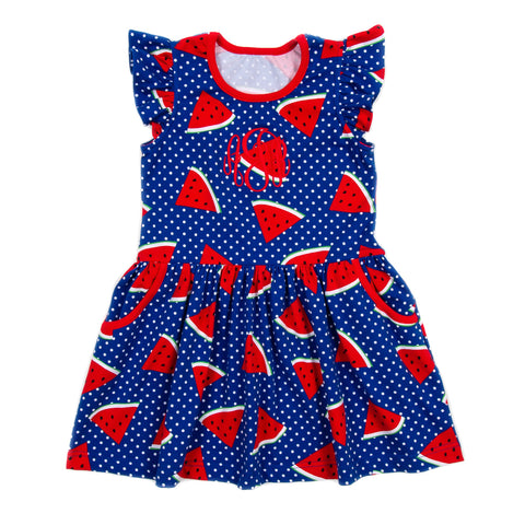Whales and Watermelons Janie Dress