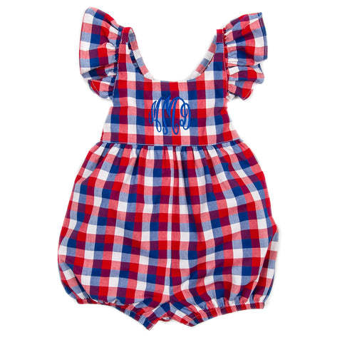 Patriotic Plaid Serena Bubble