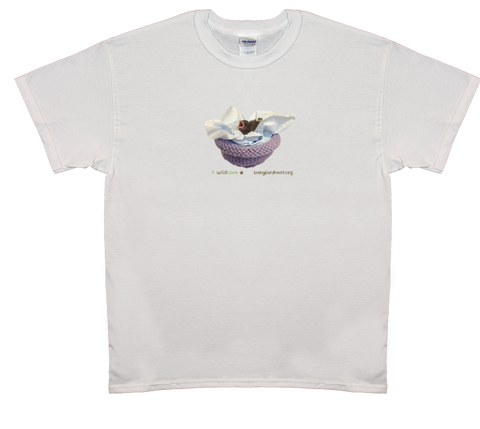 Baby Finch in Knitted Nest T-shirt (+$25 donation)