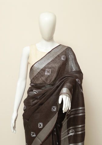 Linen Saree Design 5