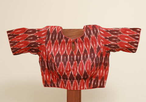 Ikat Ready Made Blouse Design 12