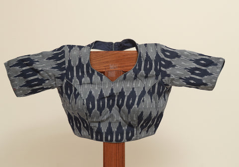 Ikat Ready Made Blouse Design 13