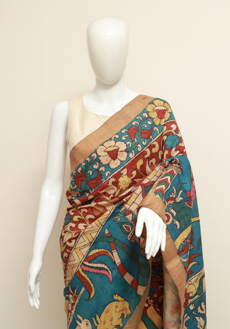 Uppada Pen Kalamkari Saree Design 1