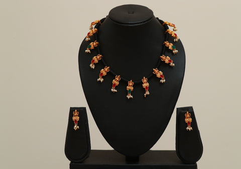 Traditional Temple Jewellery Set Design 20
