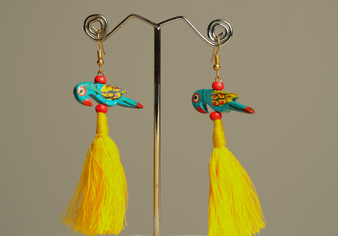 Wooden Bird Earrings Design 29