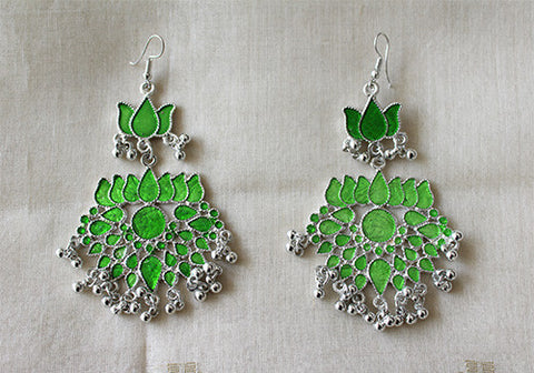 Tribal Afghan Lotus Earrings Design 66