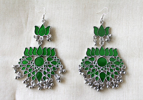 Tribal Afghan Lotus Earrings Design 69