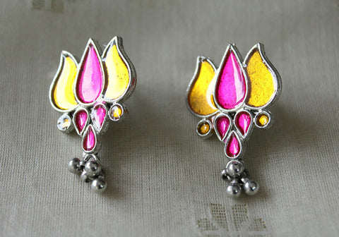 Tribal Afghan Lotus Earrings Design 109