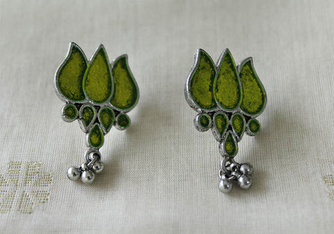 Tribal Afghan Lotus Earrings Design 116