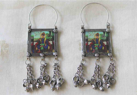 Tribal Afghan Earrings Design 144