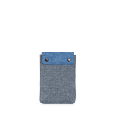 Herschel Spokane Sleeve For Ipad Mini Charcoal Crosshatch Navy Crosshatch