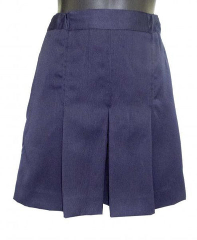 Box Pleat Short - Navy