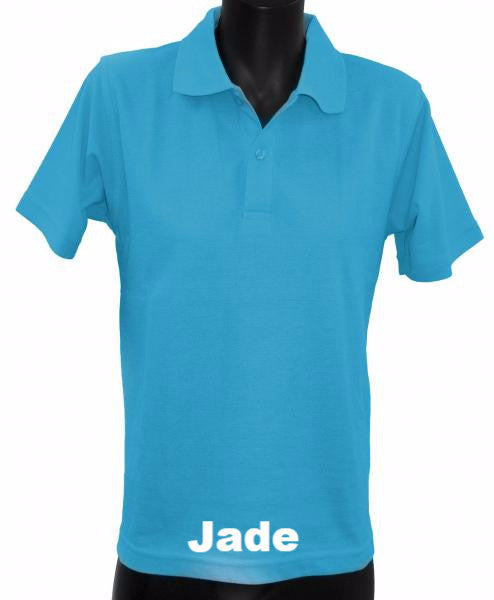 Adult - Short Sleeve Polo Top - Green Colours