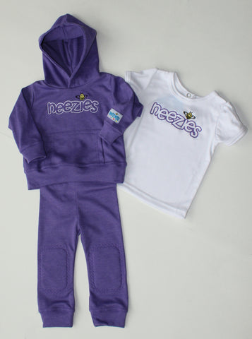 Neezies three-piece set (violet)