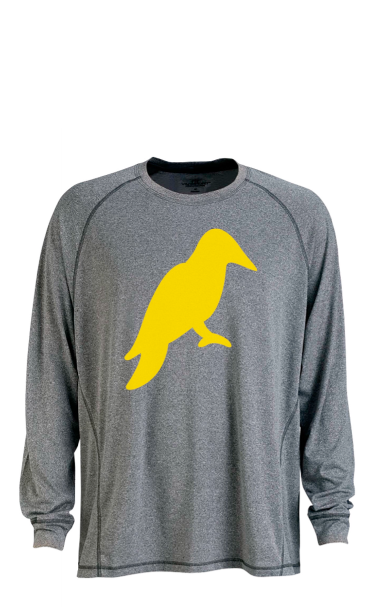 MENS LONG SLEEVE HEATHER GREY MÉ LANGE TECH TEE - Yellowhammer Supply Co.