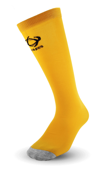 Thinees Boston Yellow Skating Socks with Grey Toe