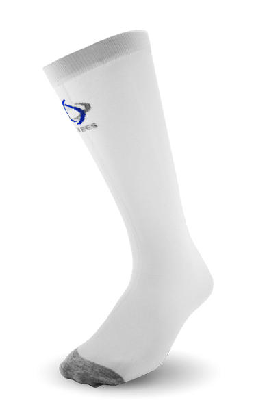 Thinees Ultra Thin White Hockey Socks
