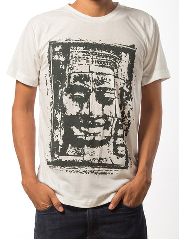 Bayon Face T-Shirt for Men (White)