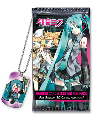 Hatsune Miku Dog Tag & Trading Card Fun Packs
