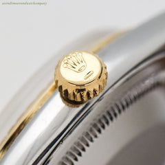 1962 Vintage Rolex Oyster Perpetual Zephyr 14k Yellow Gold & Stainless Steel Watch
