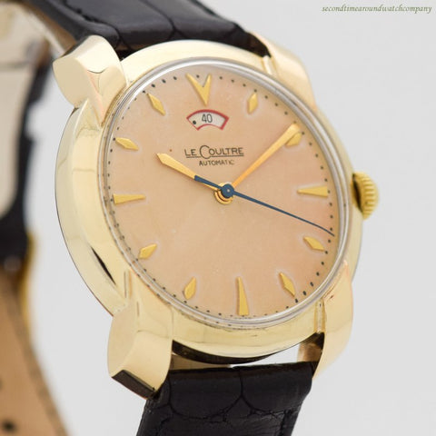 1950's Vintage Jaeger LeCoultre Power Reserve Automatic 10k Yellow Gold Filled Watch