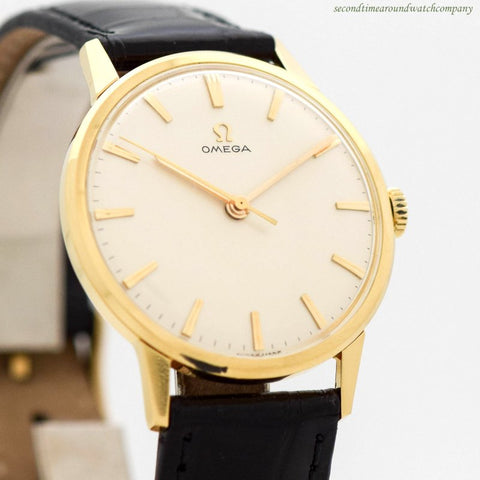 1963 Vintage Omega Reference 131.010 18k Yellow Gold Watch
