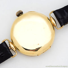 1920's Vintage Gander Watch Co. 2-Register Chronograph 18k Yellow Gold Watch