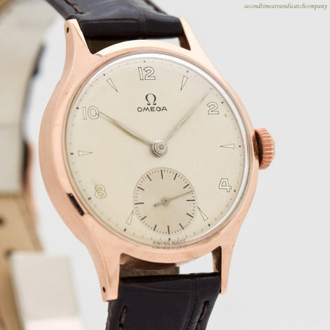1948 Vintage Omega 9k Rose Gold Watch