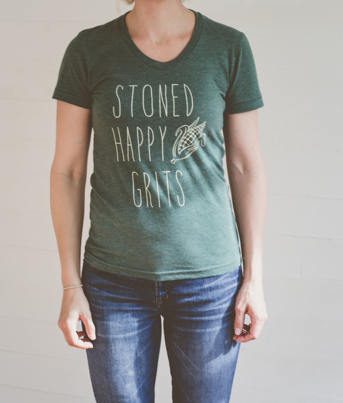 Barkley's Mill Stoned Happy Grits Women's Crew T-shirt