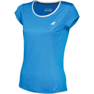 Babolat Girls Core Flag Club Tee - Diva Blue