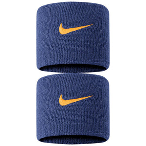 Nike Swoosh Premier DriFit Wristbands 2.0 - Blackened Blue/Orange