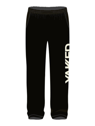 Yakked Uni-Sex Black Sweat Pants