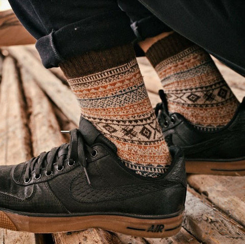 Casual winter wool socks