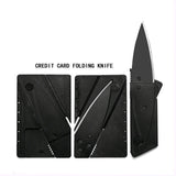 1pcs Steel metal handle credit card knife folding safety knife outdoor pocket wallet tool