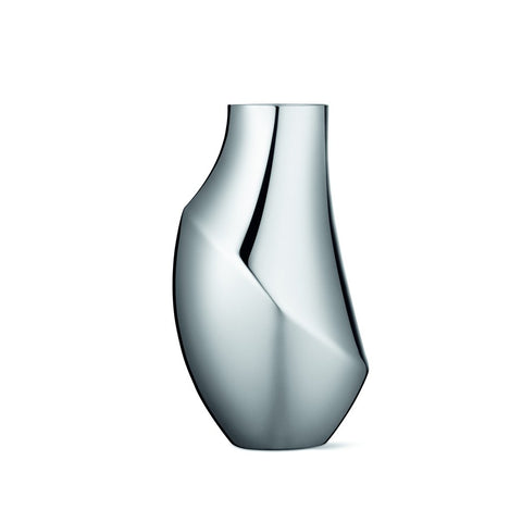 A GEORG JENSEN 'Flora' Vase in Stainless Steel