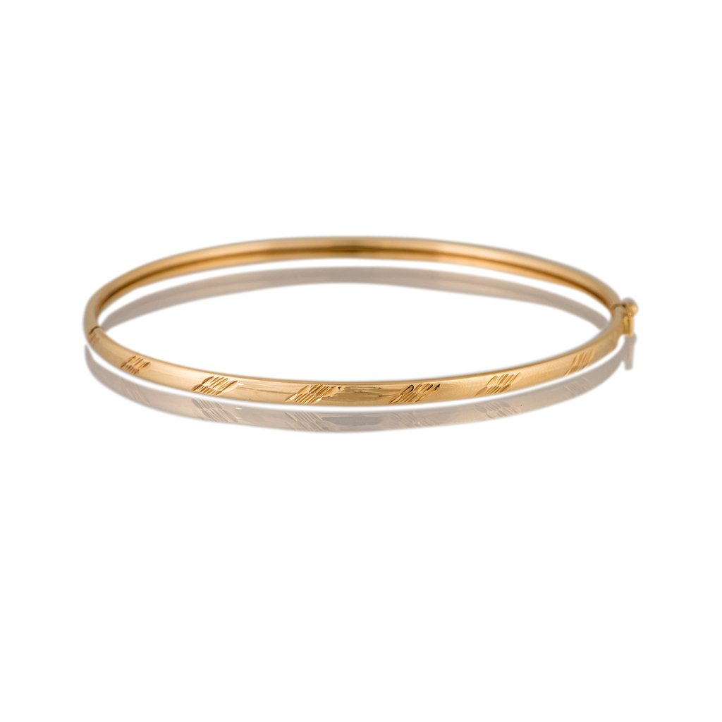 yellow gold hinged bangle