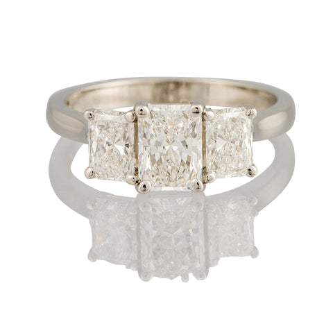 Radiant Cut Trilogy Ring
