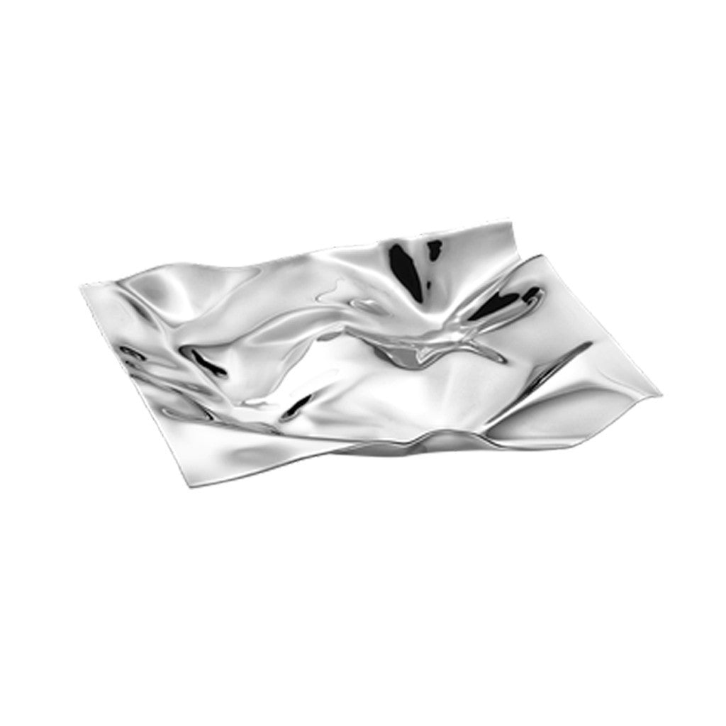GEORG JENSEN Polished Steel Small Crinkle Dish 3586853