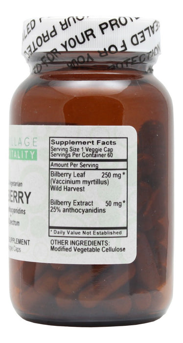 Bilberry- 90 Capsules- Supplement Facts